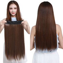 Straight Clip in Hair Extensions 5Clips 24 120g Synthetic Ombre Long False Hairpiece for Women Natural Pieces 66