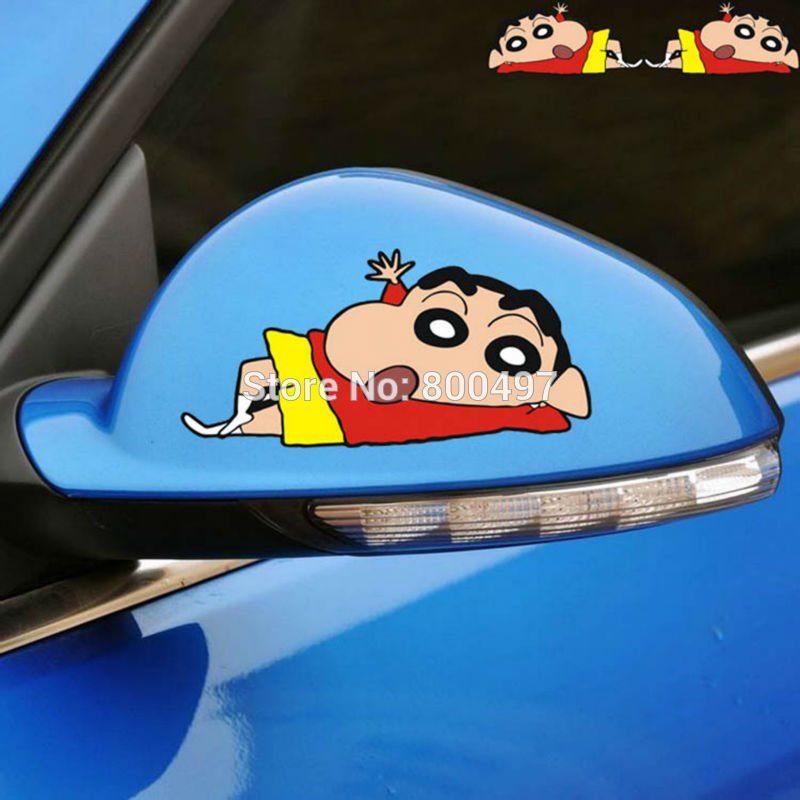 Us 12 45 11 Off 20 X Car Covers Funny Cartoon Crayon Shin Chan Lying On Groud Car Stickers Decals For Ford Fiat Peugeot Vw Honda Mazda Opel Lada In