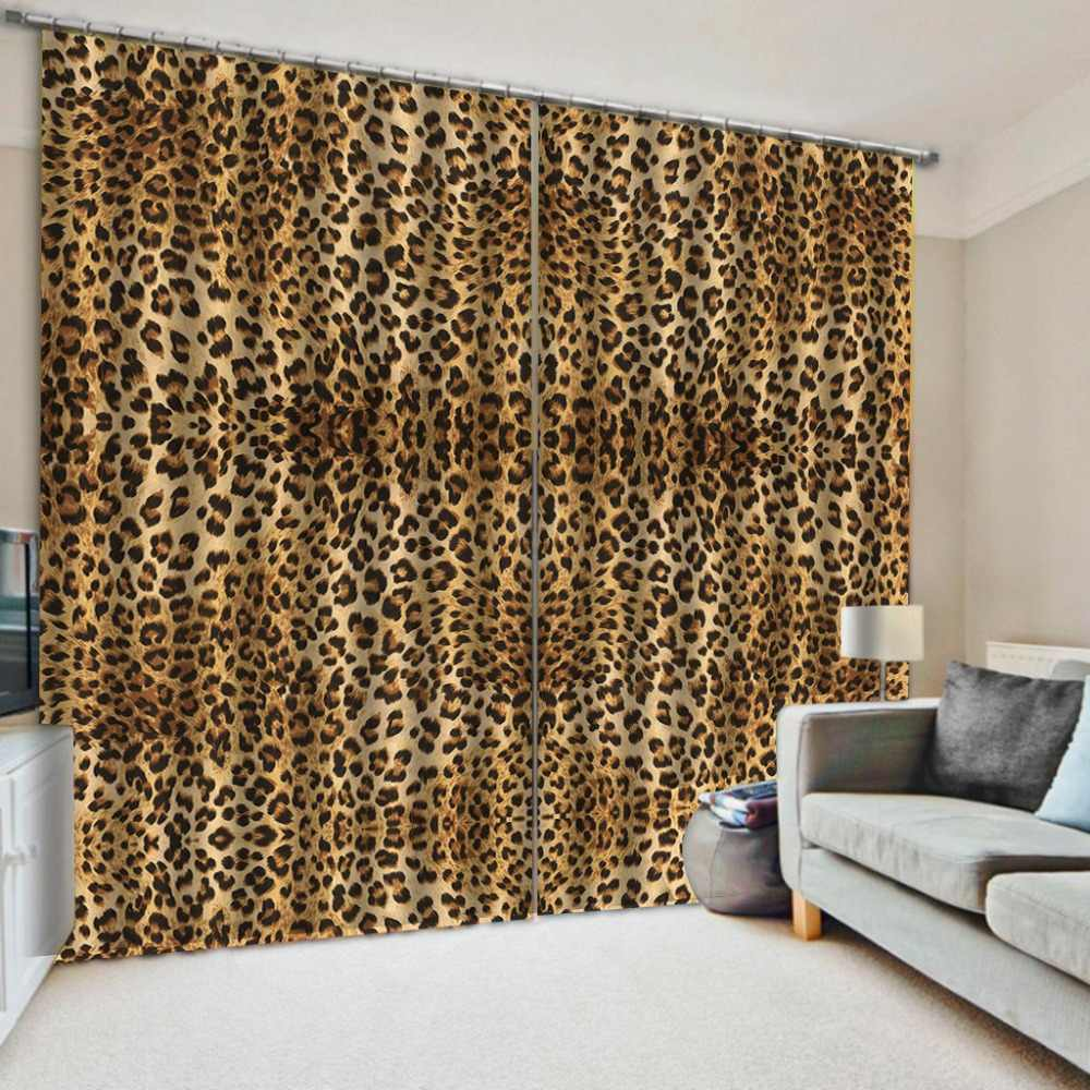 Any 3d Curtains Leopard Curtains For Living Room Bedroom Blackout