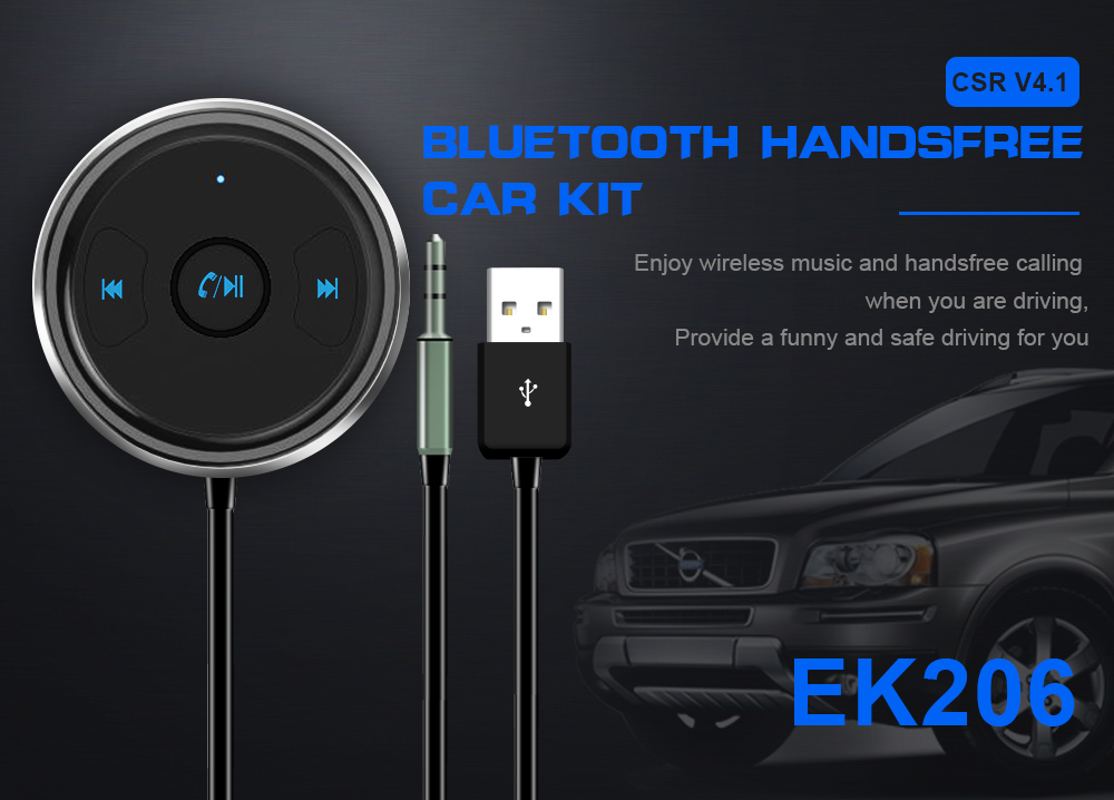 FDOMAIN auto 3.5mm jack AUX bluetooth adapter hands free car kit audio receiver support siri and other mobile voice assistant 8