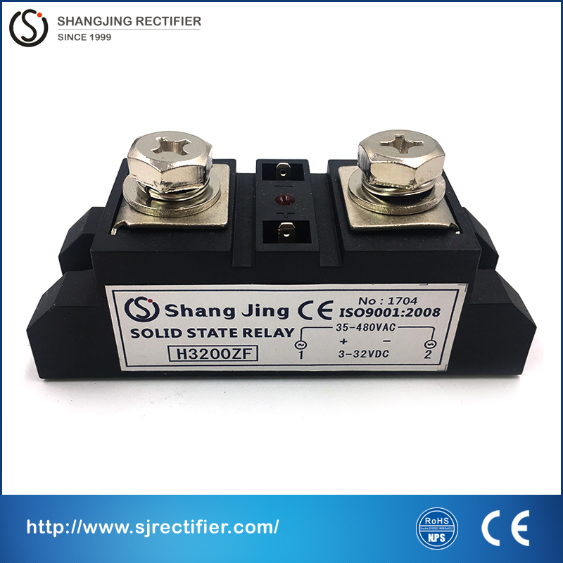 single phase industry solid state relay SSR  high current rate 200A CE RoHS approval input 3~32VDC output 35~480VAC relay solid 20dd ssr control 3 32vdc output 5 220vdc single phase dc solid state relay 20a yhd2220d