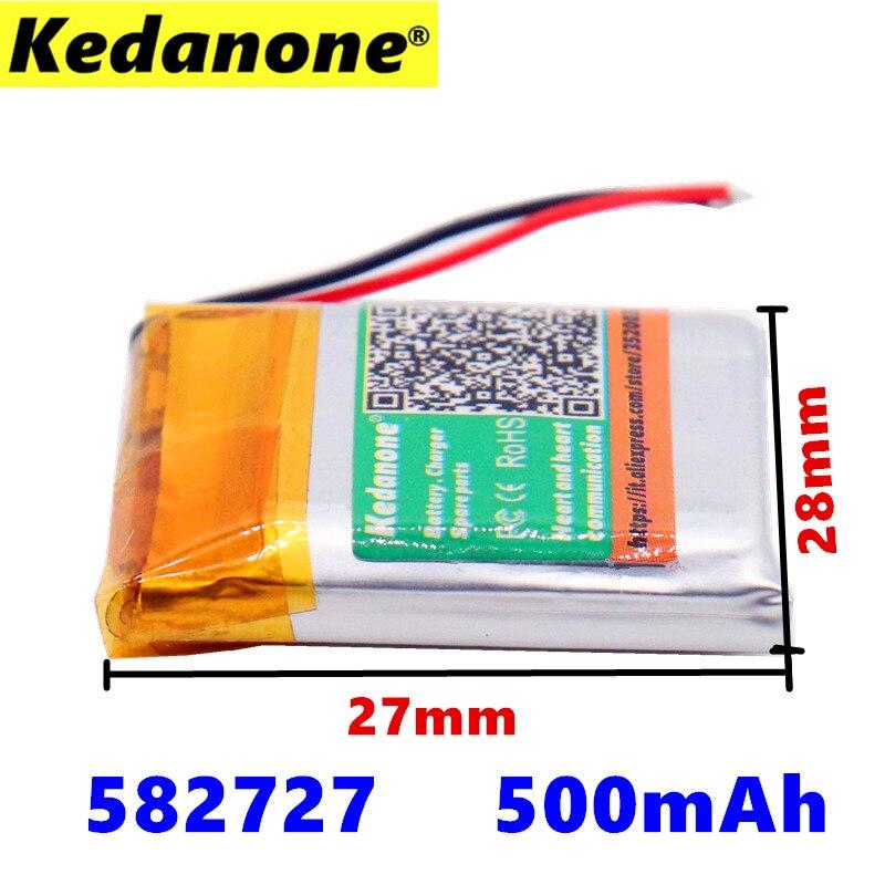 Batterien Vorsichtig 500 Mah 582728 Lithium-polymer Li-po Li Ionen Akku Lipo Zellen Für Bluetooth Lautsprecher Pda Notebook Gps Der Preis Bleibt Stabil