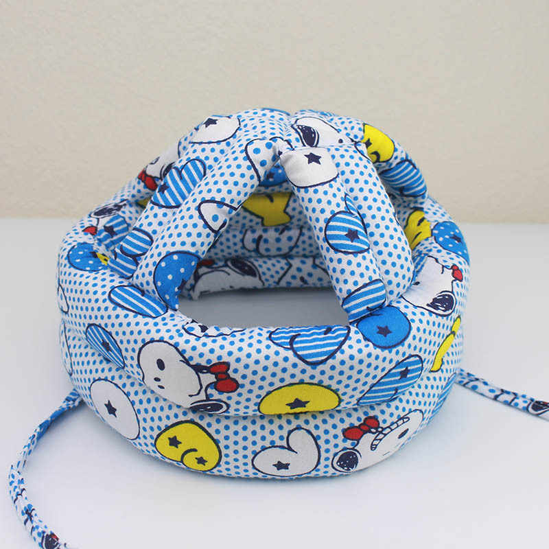 Cojín de algodón suave de dibujos animados almohada de protección de cabeza de bebé para caminar cabeza cojín casco para niños