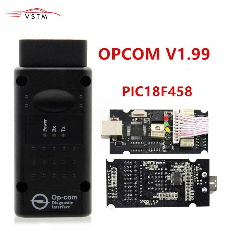 OPCOM V1.95 1,99 V1.78 V1.70 mit PIC18F458 OP-COM Opel Für Auto Diagnose Werkzeug V1.7 Freies Software Autoscanner