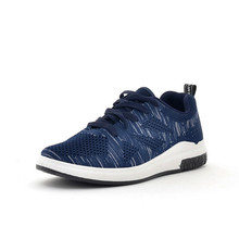 Купить с кэшбэком Brand Men Shoes New 2019 Summer Fly Woven Mesh Breathable Running Shoes Fashion Light Men Sneakers Trainers Chaussure Homme 2A