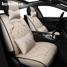 Kokololee (спереди и сзади) лен Автокресло Обложка протектор приспособлены для isuzu mu x сиденье же структуру подкладке сиденья стикер