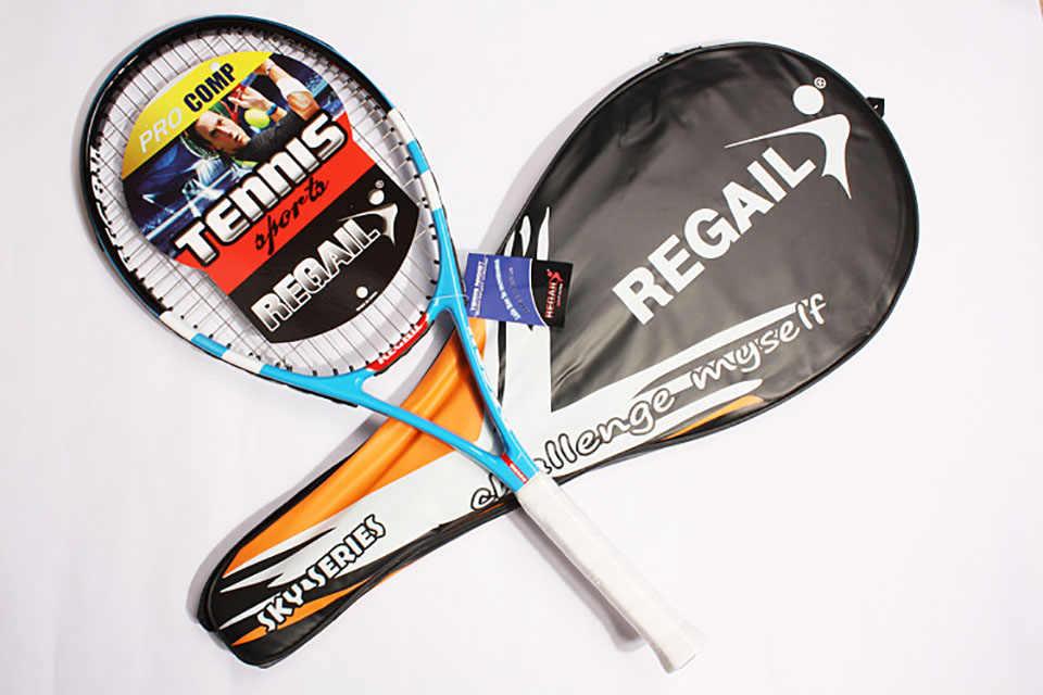 High Quality 1 Piece Tennis Racket Carbon Fiber Women Man Masculino Raqueta de tenis for Match Game Training with free Bag