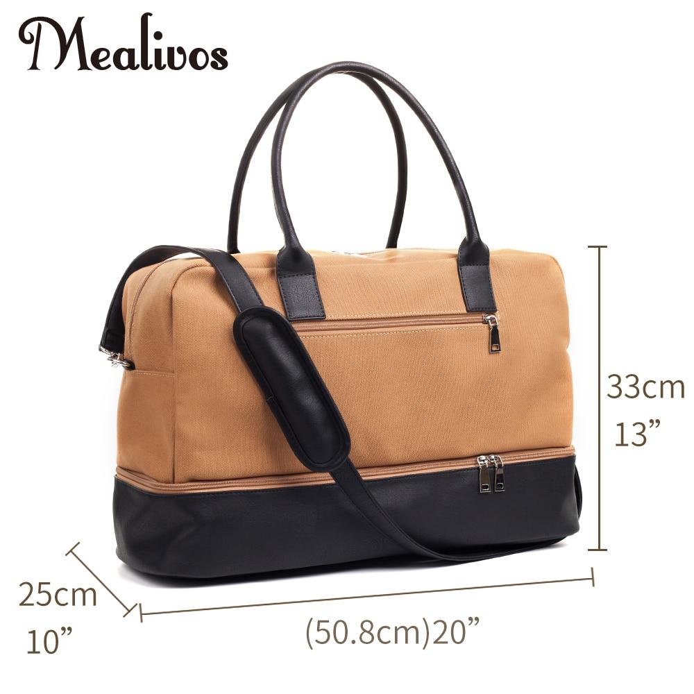 Mealivos 2017 Mode Canvas Man Large Weekender Bag Övernattning - Väskor för bagage och resor - Foto 4