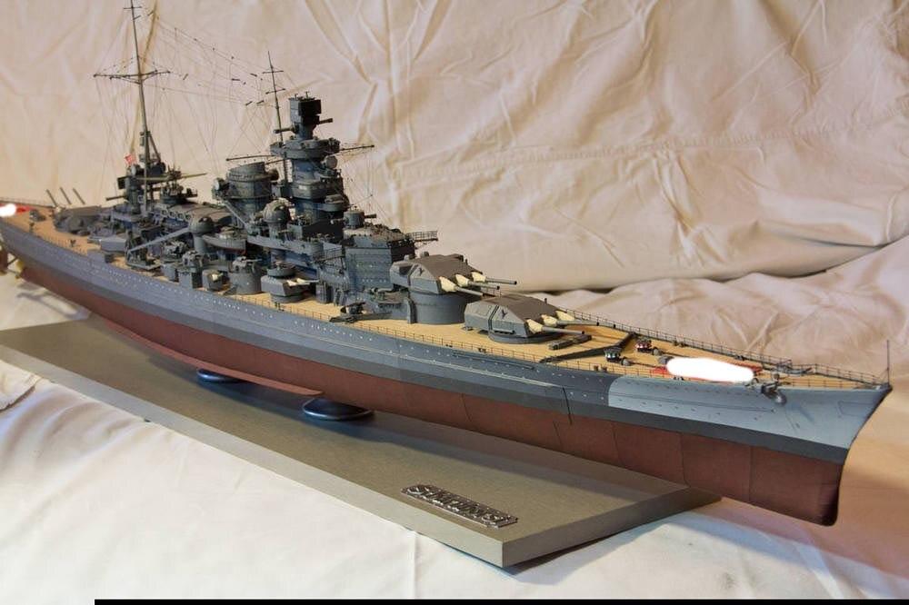 Paper Model Harlem version battle cruiser Scharnhorst than 200 3D paper model 1 halo bruteshot 3d paper model