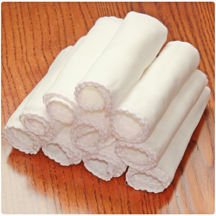 10pcs 2016 Cotton Soft Baby Bath Towel Feeding Newborn Bath Towels Autumn and Winter High Quality Wholesale 32*32cm