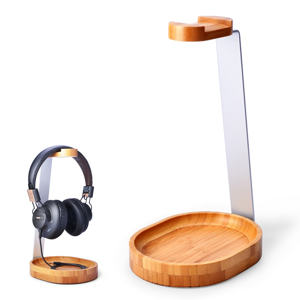 Avantree Universal Wooden & Aluminum Headphone Stand Hanger with Cable Holder for Sony,Shure,Jabra,Gaming Hea