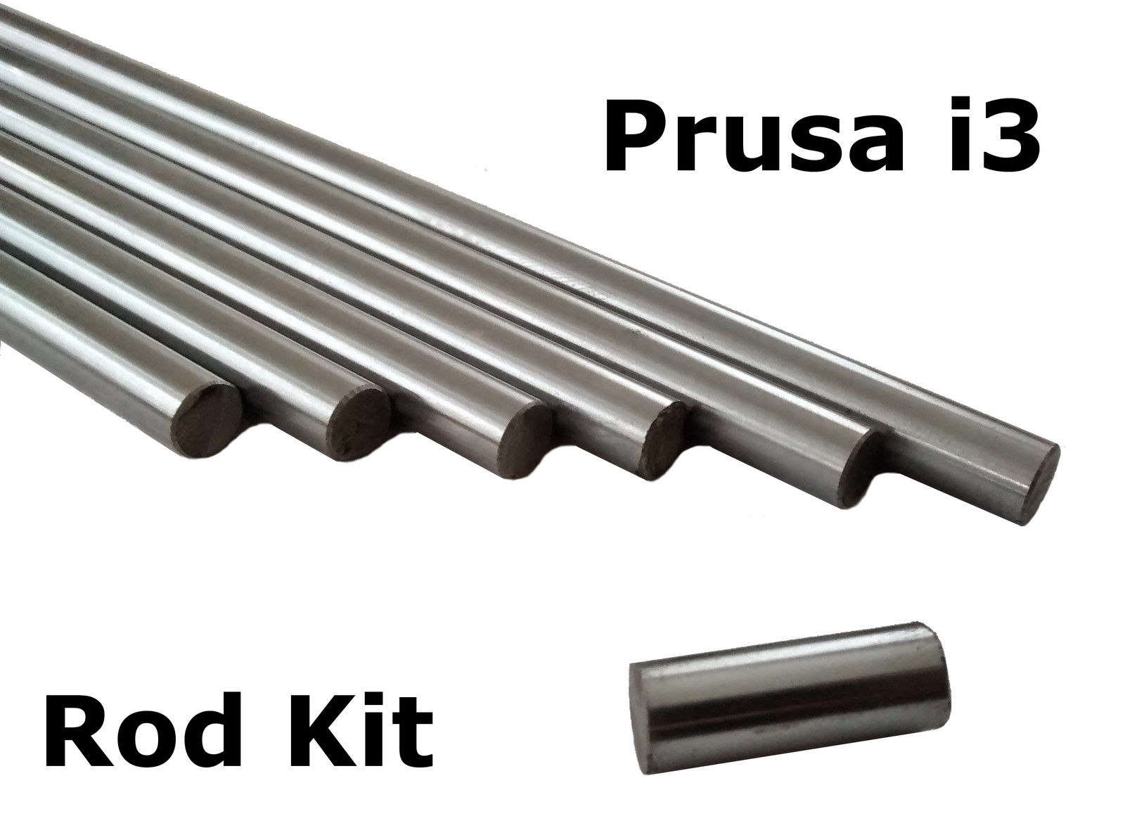 Prusa i3 3D Printer Smooth Rod Kits - 8mm Chrome Steel Smooth Rod L 20mm 320mm 350mm 370mm Linear Shaft Optical Axis - RepRap