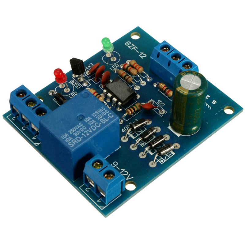 Electric Relay Unit High Liquid Water Level Controller Sensor Relay Module Detection 9-12V Control High Current Relay 1pcs current detection sensor module 50a ac short circuit protection dc5v relay