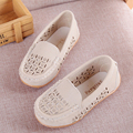 Kids Cutout Sandals Boys Soft Soled Moccasins Children Hollow Out Breathable Leather Shoes Slip On Loafer Walking Shoes