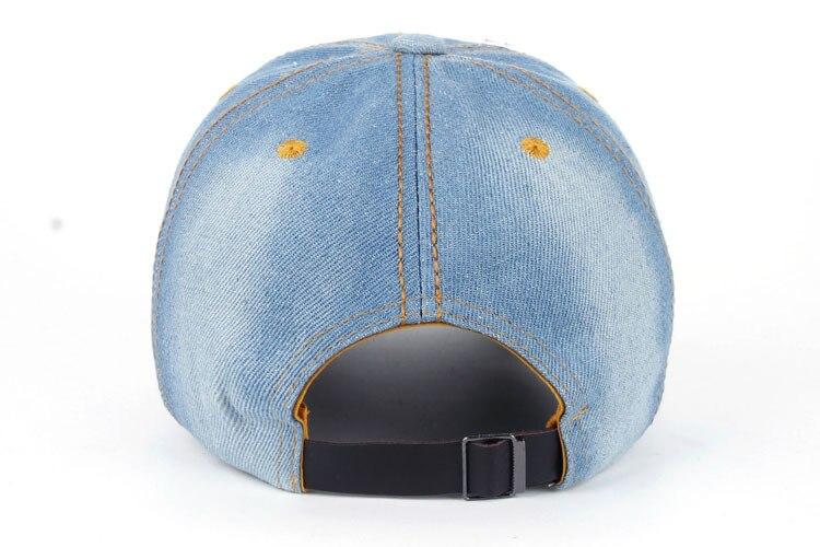 Joymay 2015 nuevo diseño de moda Bling sombrero y gorra perla mariposa  Denim Jean gorra de béisbol para la mujer Rhinestones llenos en visera B219  en Gorras ... 9d89fa2885c