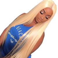 613 синтетические волосы на кружеве натуральные волосы Искусственные парики мёд блондинка 130% прямые бразильские синтетические на
