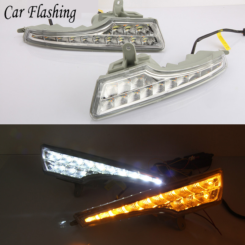 Car Flashing DRL For Nissan Teana ALTIMA 2013 2014 2015 2016 LED DRL with turn signal Daytime Running Lights Daylight Fog Lamp