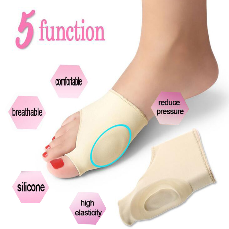 Hallux Valgus Corrector orthopedic Bunion Correction Socks Big Toe Bone Silicone Foot Thumb protector Brace Relieve Pain B3 thumb valgus corrector large bone can wear shoes big toe divider day and night adults available