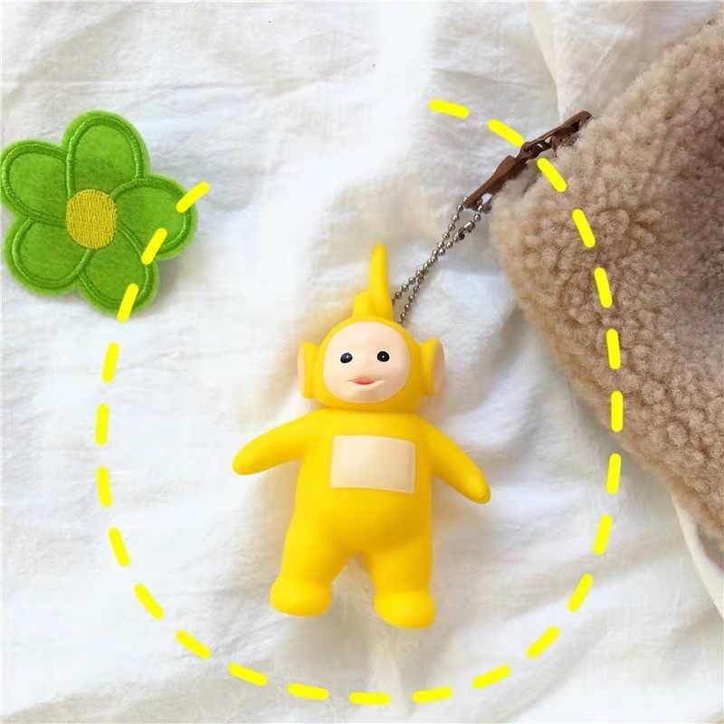 2019 Nova Marca Original dos desenhos animados teletubbies Boneca Chaveiro Para Crianças Presente de Natal keychain figura de ação brinquedos dos desenhos animados quente