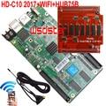 HD HD-C10+WIFI+HUB75B 2017 New USB asynchronous full color LED screen control card LED display WIFI control card 3pcs/lot