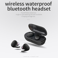 TWS9100 Waterproof TWS Bluetooth Earphone Wireless Earbuds 3D Stereo Sport Running With Charge Box Microphone Auto