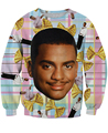 Women men 3D Carlton Sweatshirt Fresh Prince of Bel-Air Crewneck Will Smith Jr Sweats outfit jumper tops spring autumn pullover