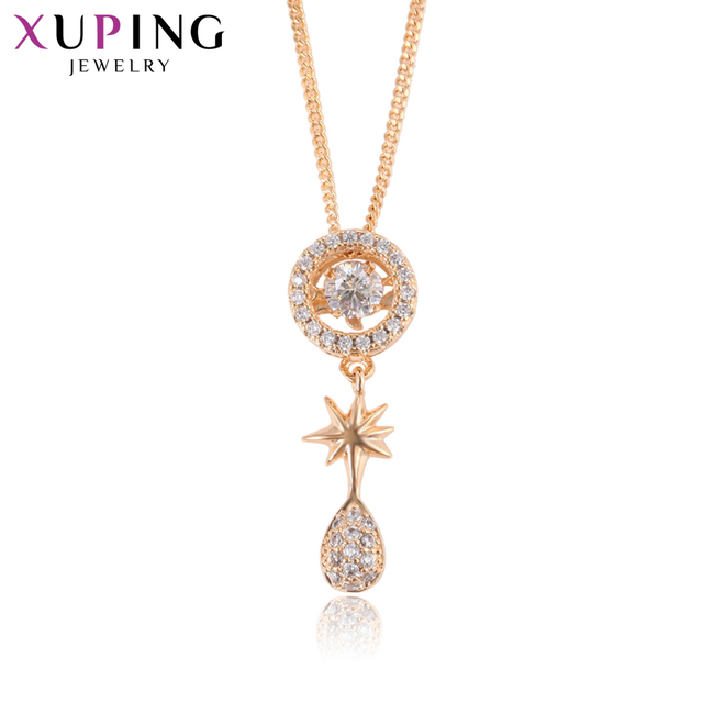 Xuping Simple Fashion Necklace Charm Style Long Necklace Women Girls Chain Valentine's Day Jewelry Exquisite Gift S83,5-44190
