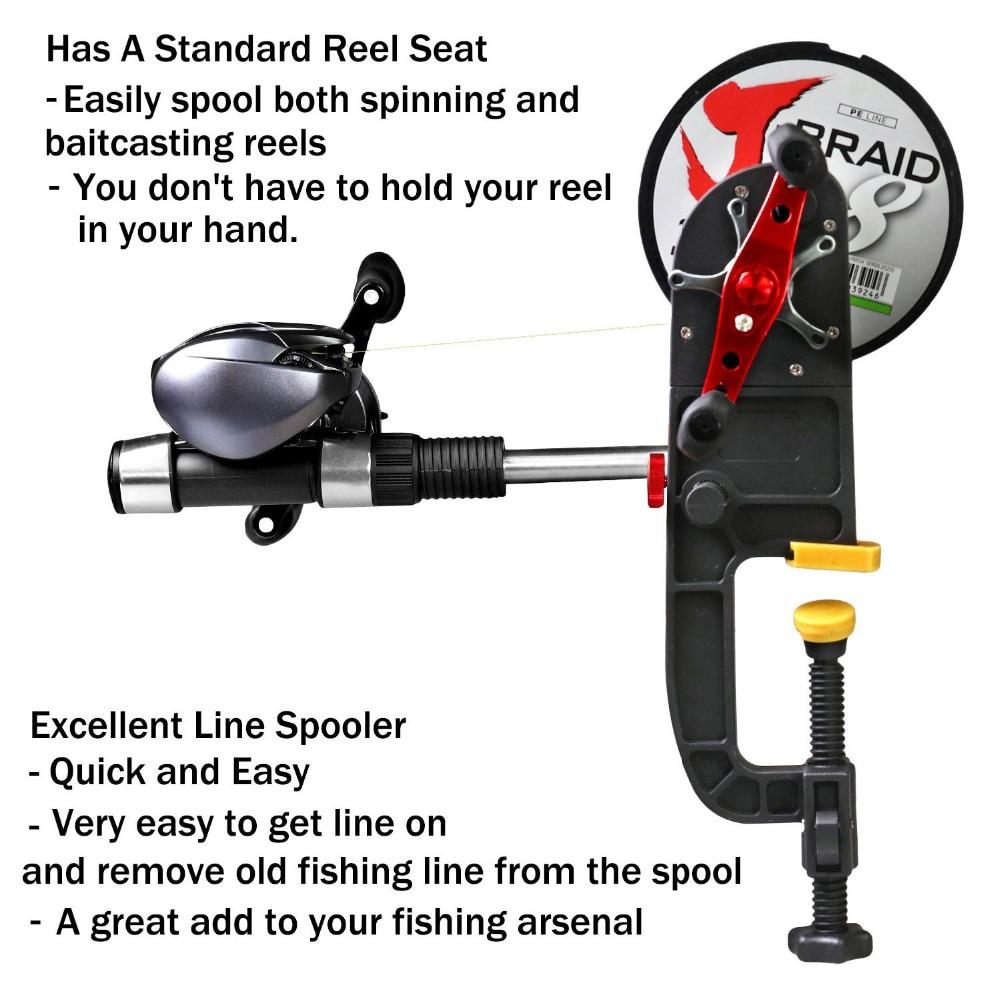 Fishing Line Winder Spooler System Machine Baitcasting Reel Spooler Portable Aluminum Fishing Line Winder Reel Spool Station