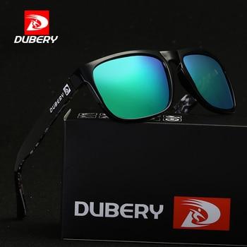 396f6c627d DUBERY marca de diseño polarizado gafas de sol hombres conducción sombras  hombre Vintage gafas de sol para hombres cuadrados espejo fresco UV400  Oculos