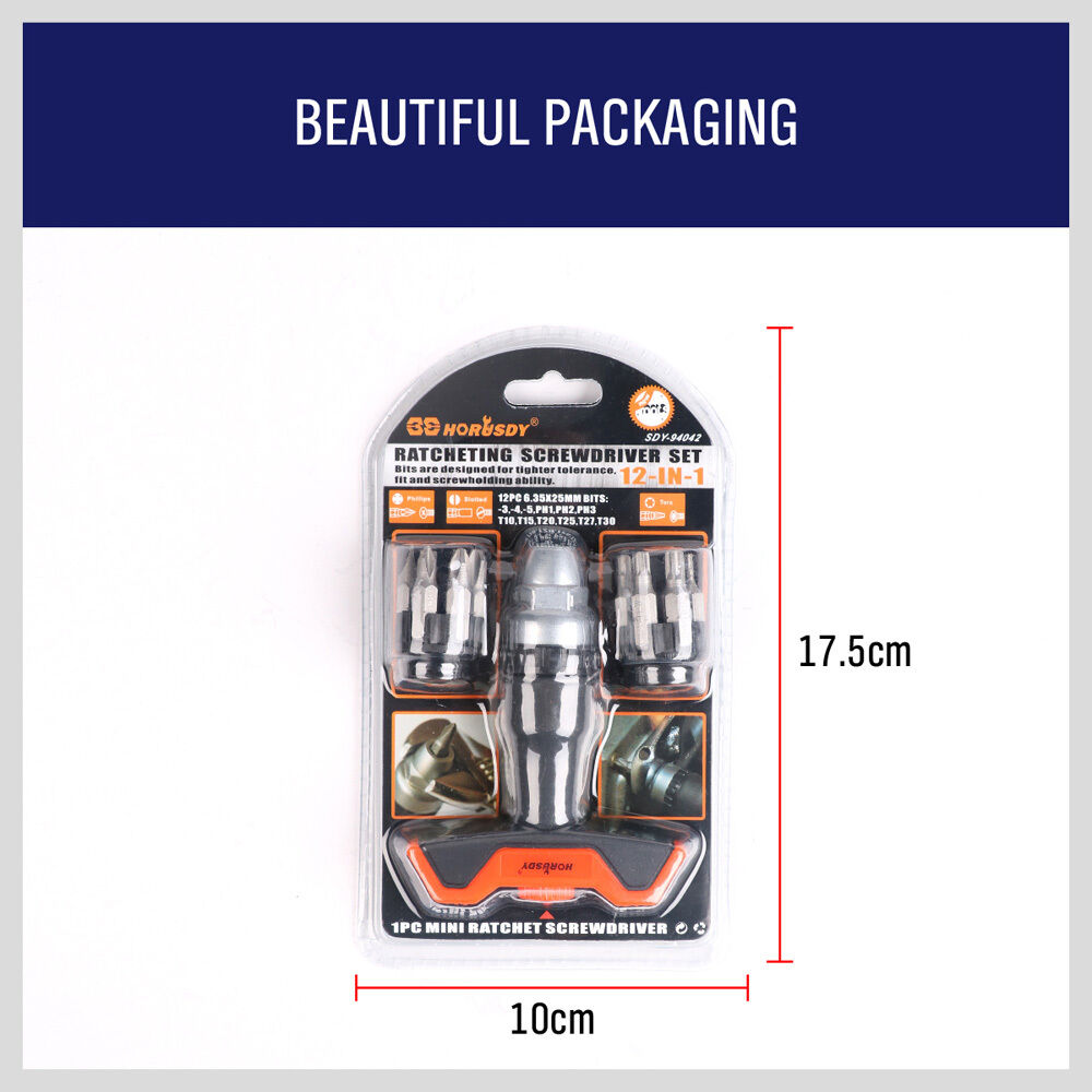 Купить с кэшбэком 12pcs Ratcheting Screwdriver Set T-Driver T-Handle Set Rotating Household General Tools Drive Tackle Portable Tool Set