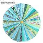 Tela hecha a mano DIY 46 Color verde Departamento impreso tela decoración del hogar artesanías ropa de artes creativas al por mayor tela de algodón - 1
