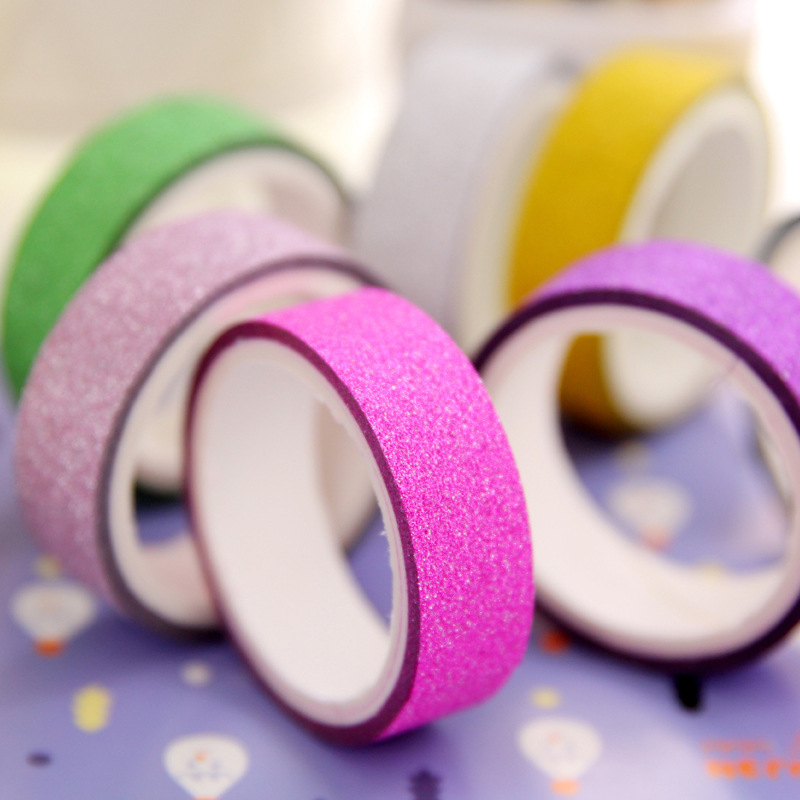 10 PCS Lot Color Great Brightness Washi Shine Tape Ribbon Party Supplies Decoration Solid DIY Scrapbooking Masking Tape Notebo in Office Adhesive Tape from Office School Supplies