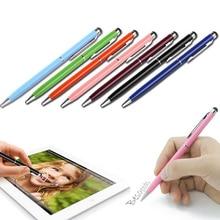 20 pz/lotto 2in1 schermo di Tocco Dello Stilo Penna + Penna A Sfera per iPad iPhone Smartphone Tablet colori di radom