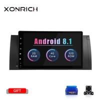 Ips 1 Din Android 8,1 dvd плеер автомобиля для BMW X5 E53 E39 радио gps навигации стерео аудио мультимедиа Экран головное устройство BT Wi Fi 4G