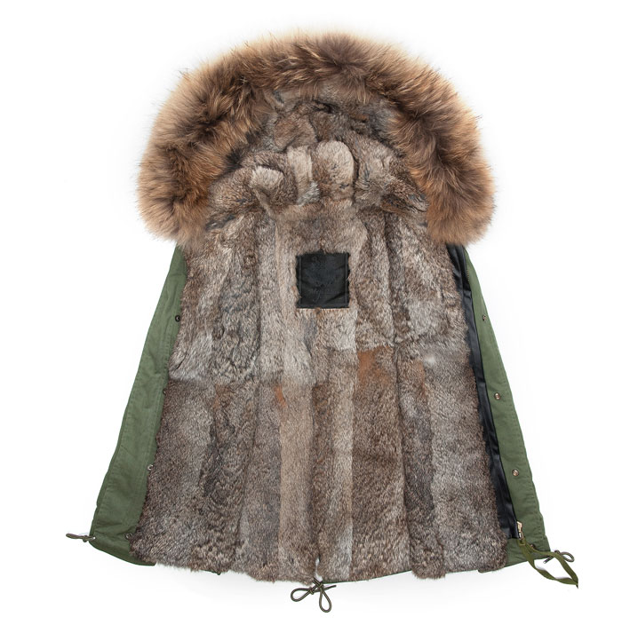 Winter Parkas for Man Hooded Thicked Big Collar Rabbit Mr Fur Parka Male Coats Slim Jacket Male Outwear Army Furs coat