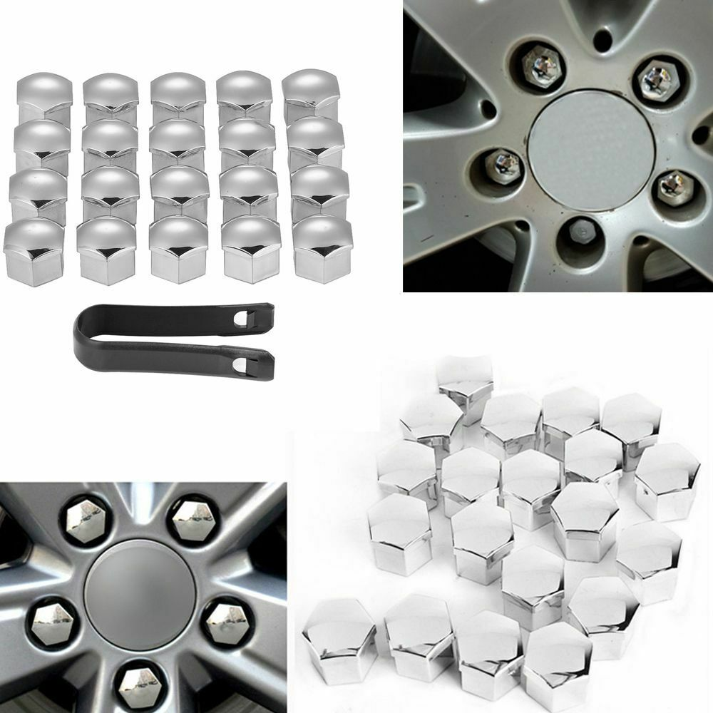 20Pcs <font><b>Car</b></font> <font><b>Wheel</b></font> <font><b>Nut</b></font> <font><b>Caps</b></font> Auto Hub Screw Cover Bolt Rims Exterior Decoration Special Socket Protection Dust 17mm & Removal Tool image