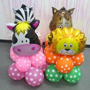 Image 3 - Dschungel tier ballon set geburtstag party dekorationen kinder zoo Safari tier luftballons dschungel party liefert decor