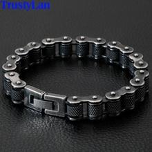 Мужской браслет из тяжелой нержавеющей стали, 13 мм, широкий, в стиле ретро, хип хоп