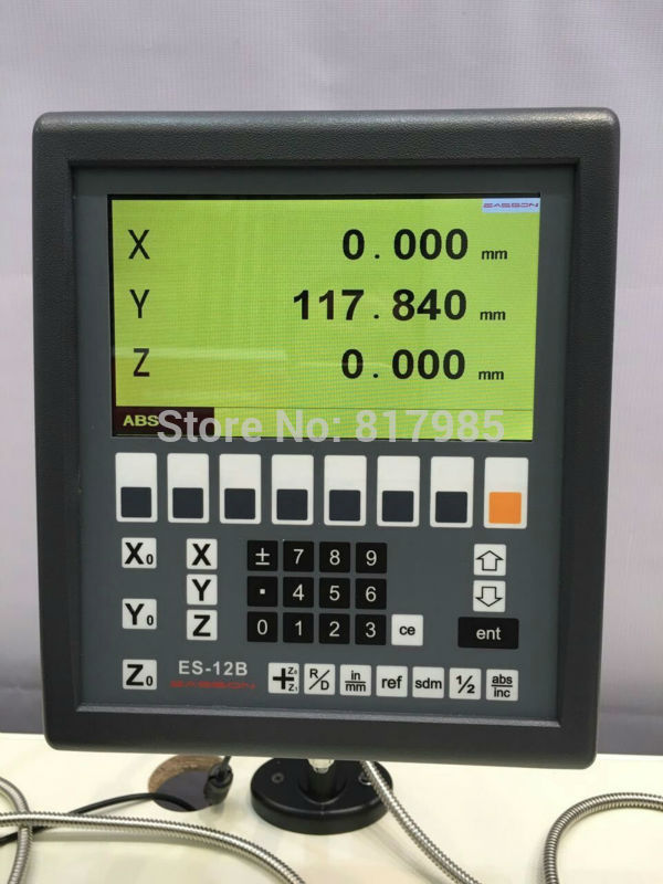 New Easson ES 12B 3 axis digital readout LCD display mill lathe 3 axis DRO system