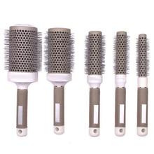 1Pcs Durable Ceramic Iron Round Comb Hair Dressing Brush Salon Barber Styling Barrel Tool 5 Size To Choose