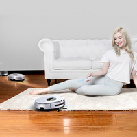 Fmart Robot Vacuum Cleaner UV Dust Sterilize With 1000Pa Suction Automatic Sweeping Selfcharge Remote Control YZ