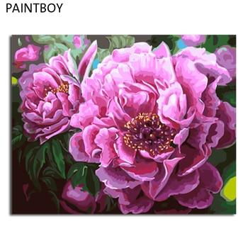 Paintboy صور مؤطرة الطلاء بواسطة أرقام من عباد الشمس اليدوى قماش النفط الطلاء ديكور المنزل ل غرفة المعيشة