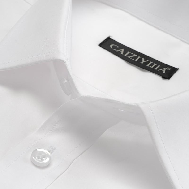Image 2 - Mens Standard fit Wrinkle Resistant Long Sleeve Dress Shirt Button Closure Cotton Classic Formal Business Work Basic ShirtsDress Shirts   -