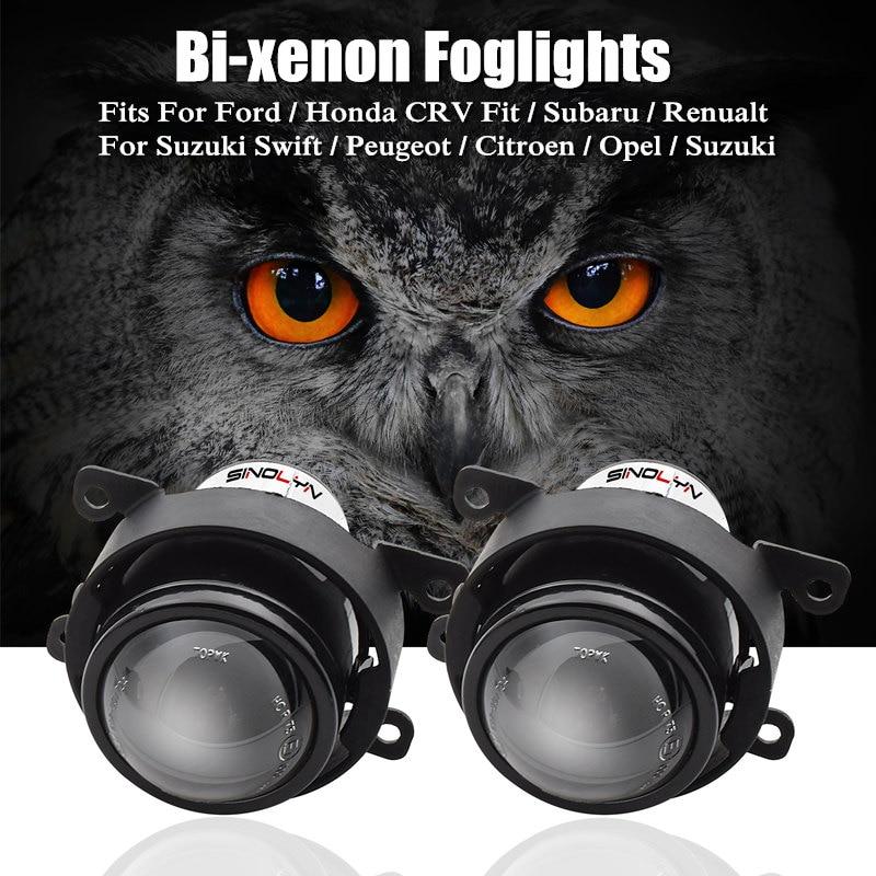For Ford Honda CRV Fit Subaru Renualt Suzuki Swift Car HID Bi xenon Fog Lights Projector