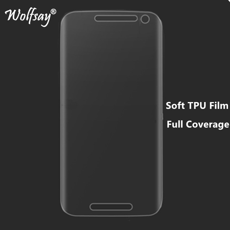 Screen Protector For Motorola Moto G Turbo TPU Film For Motorola Moto G Turbo Edition XT1556 Full Cover Film Wolfsay Not Glass