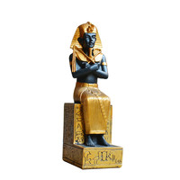 Egypt Pharaoh Decorative Figurines Egyptian Pharaohs Statue Craft Christmas Home Decoration Pyramid Resin Craft Gifts R269