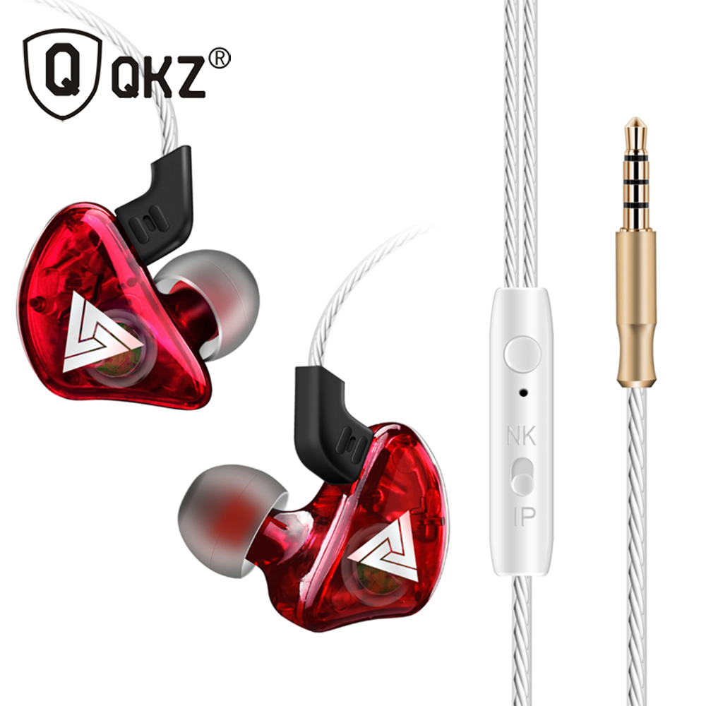 In Ear Earphone QKZ CK5 Stereo Running Sport Earphone Noise Cancelling HIFI fone de ouvido Headset auriculares audifonos qkz kd8 dual driver noise isolating bass in ear hifi earphone for phone wired stereo microphone control headset for music