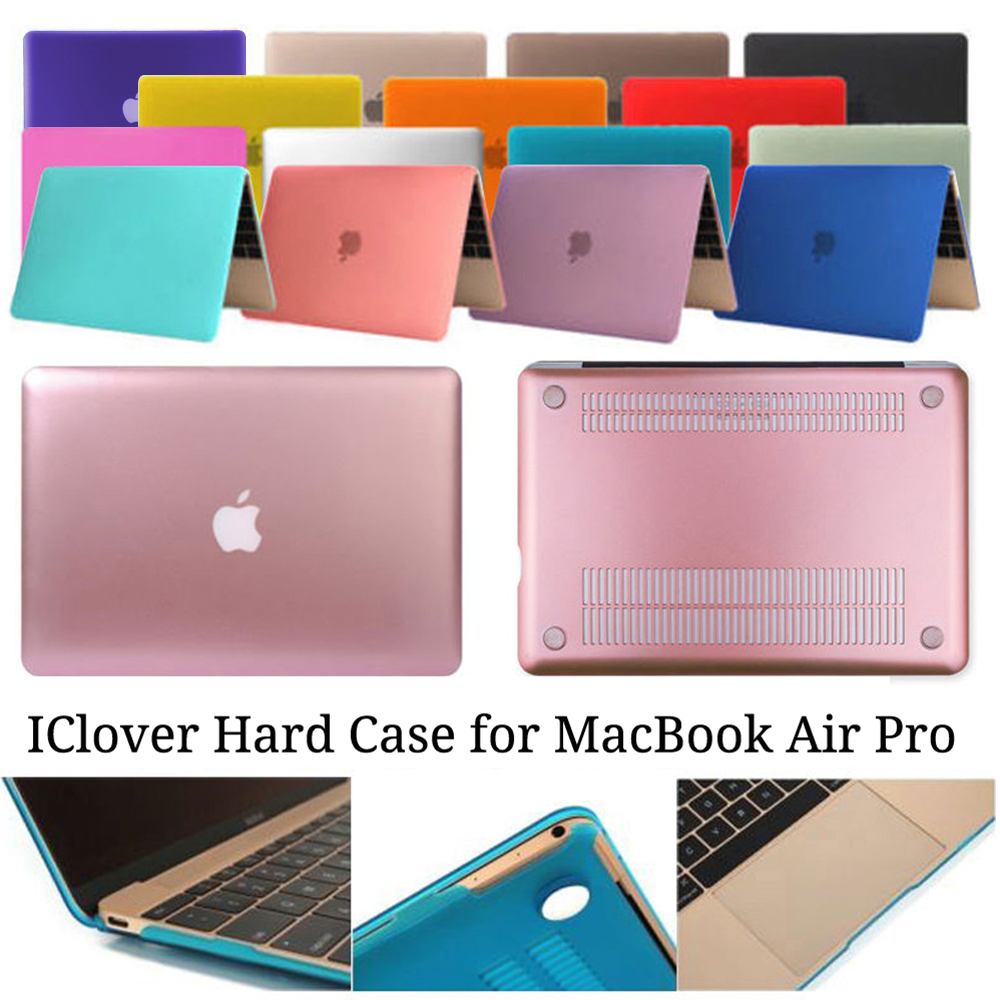IClover Colorful Rubberized Protective Laptop Hard Shell Case Cover for Macbook Air 11 13 Pro 13 Retina 12 13 15 Unisex