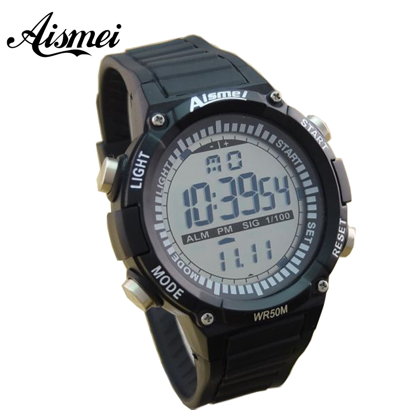 ad84a45eec4 Aismei LED Display Digital Watch Sport Watches Relogio Masculino Relojes  Hombre Montre Homme Fashion Waterproof Wristwatches