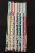 60 adet/grup, toptan, ücretsiz kargo, klasik çiçek jel kalem kore kırtasiye sevimli karikatür yaratıcı okul kaynağı, 6 renk
